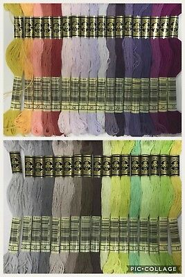 AU32.20 • Buy NEW RANGE DMC Thread Stranded Cotton Floss 35 Colours - Number 1 To 35