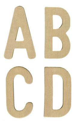 £8.36 • Buy Plywood Alphabet Letters UPPER CASE Wooden - 1200-26
