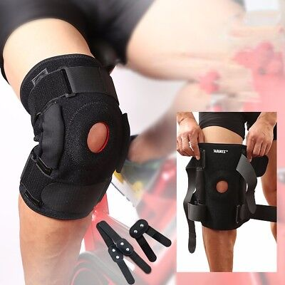 9310f4ef21 Hinged Knee Brace Adjustable Open Patella Support Swollen ACL Tendon  Ligament US • 16.05$