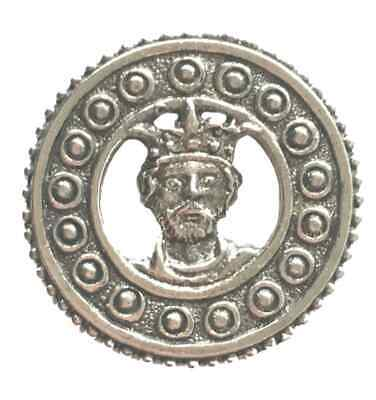 £6 • Buy St Edward In Disc Pilgrim Medieval Handcrafted In Pewter Pin Badge W/A SEDPPIN