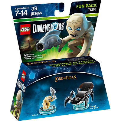 LEGO Dimension 71218 Fun Pack Lord Of The Rings Gollum Signore Of Rings New • 15.18£