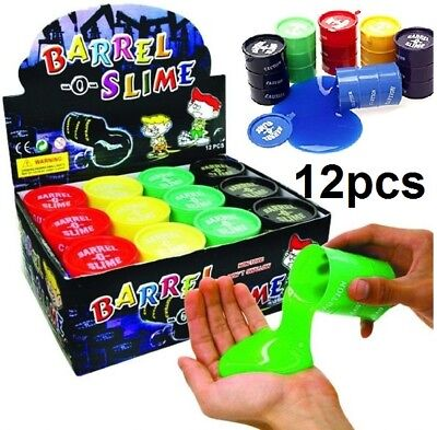 AU22.45 • Buy 12 Pcs Barrel O Slime Stress Relief Party Favours Silly Crazy Toy Novelty Colour