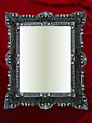 Picture Frame Baroque Black Antique With Glass 45x38 Rectangular Photo Gothic • 27.63£