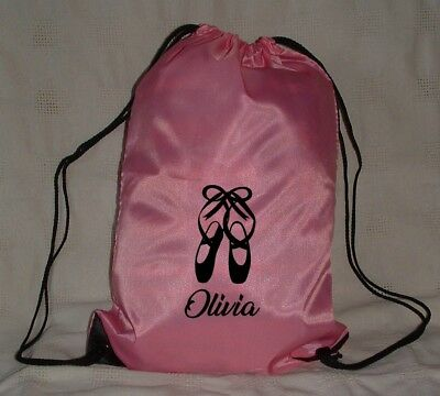 $6.82 • Buy Personalised Dancing Drawstring Pe Bag - Ballet Irish Dance Or Tap Shoes Logo