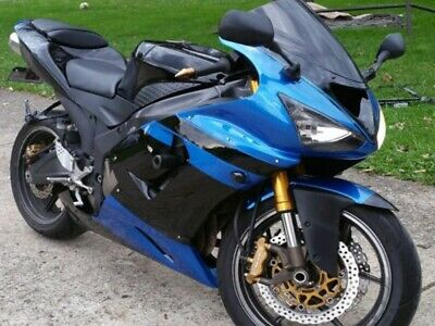 $529.99 • Buy Plastic Blue Black Fairing Fit For Kawasaki 2005 2006 ZX6R 636 Injection I005
