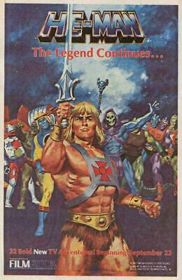 $9.98 • Buy He-Man And The Masters Of The Universe 11x17 Movie Poster (1983)