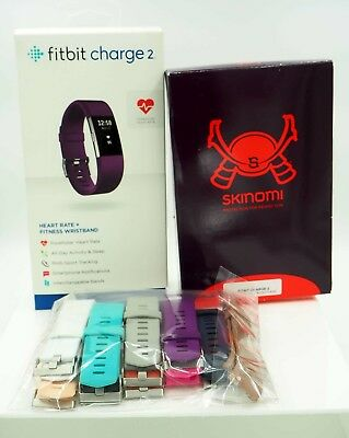 $ CDN129.60 • Buy Fitbit Charge 2 With Skinomi Screen Protectors And Color Bands *GREAT BUNDLE*
