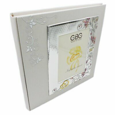 £110 • Buy Photo Album 50th Anniversary With Hand-Enamelled Silver Frame 5 X 7