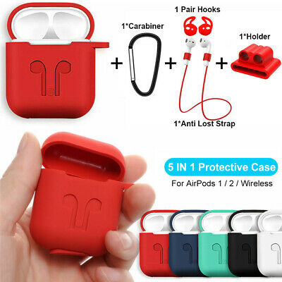 AU4.56 • Buy For Apple AirPods 2 1 Charging Case Silicone Skin Cover Accessories AirPod Case