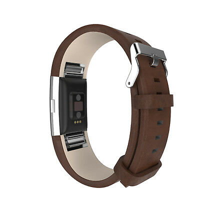 AU11.80 • Buy Watch Band Wrist Genuine Leather Strap Replacement For Fitbit Charge 2 Wristband