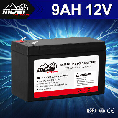 AU25.99 • Buy MOBI 12V 9AH AGM Deep Cycle Battery Dual Fridge Solar Power Deep Cycle Batteries