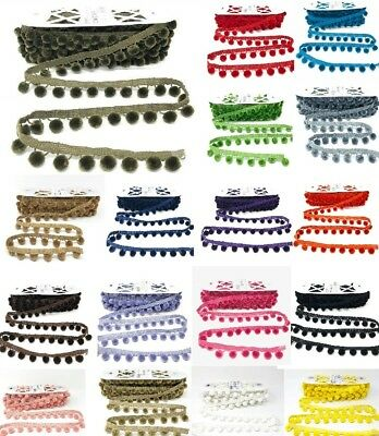 Beautiful Pom Pom Trim (28mm Drop) - Sold By The Metre By Bertie's Bows • 2.70£