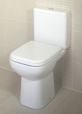 £174.95 • Buy RAK Origin Close Coupled Toilet With Soft Close Seat - Compact Short Projection