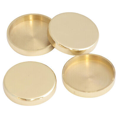 £5.75 • Buy Solid Brass Castor Cups   LARGE 76mm OD / Coasters Floor Protectors - Heavy Cast
