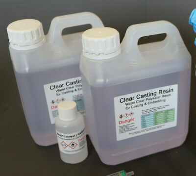 £29.95 • Buy Resin 2.5kg Water Clear Casting  Cast - Craft  Jewellery Embedding  - BASIC KIT