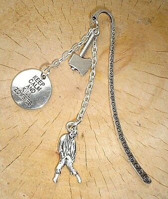 £2.99 • Buy Keep Calm And Kill Zombies Axe Charm Bookmark Silver The Walking Dead Themed