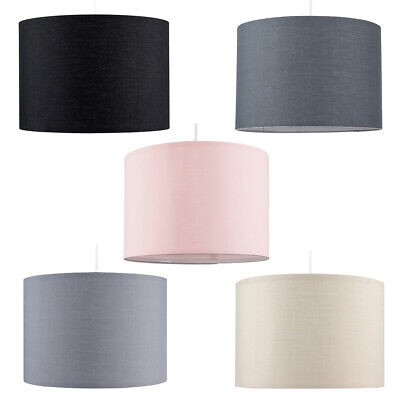 £12.99 • Buy Modern Drum Light Shades Fabric Cotton Easy Fit Ceiling Pendant Lampshade