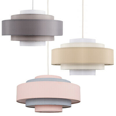 £14.99 • Buy Modern Ceiling Pendant Light Shade 5 Tier Easy Fit Cotton Lampshade LED Bulb
