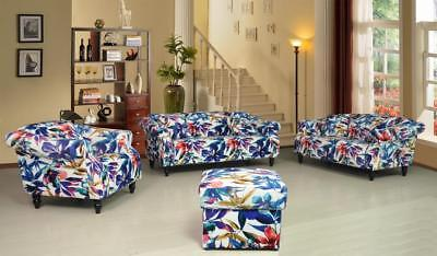 £449.99 • Buy Patchwork Fabric Sofa Suite Set Sofas FLAVIA RANGE Couches Settee Luxury Branded