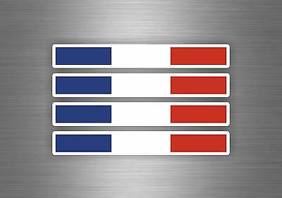 4 X Sticker Car Decal Motorcycle Flag France Stripe Racing Badge French Tuning • 2.45£