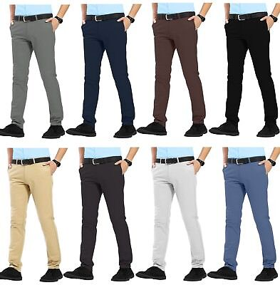 $ CDN22.45 • Buy Mens Chino Trousers Slim Fit Stretch Casual Jeans WestAce Cotton Designer Pants