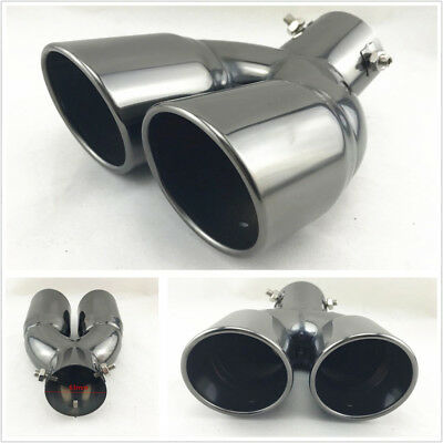 $ CDN46.99 • Buy Titan Stainless Steel Round Curved Exhaust Tip 2.5  Angled Muffler Tail Pipe