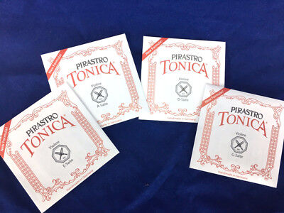 $25.45 • Buy 100% Authentic  Tonica Violin Strings Set Steel E Ball End 4/4