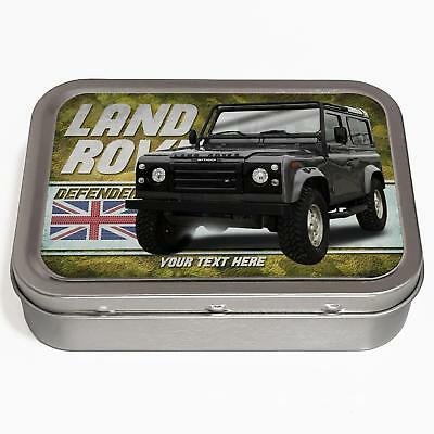 Personalised Land Rover Defender 2oz Tobacco Tin Classic Car Baccy Gift CL27 • 8.95£