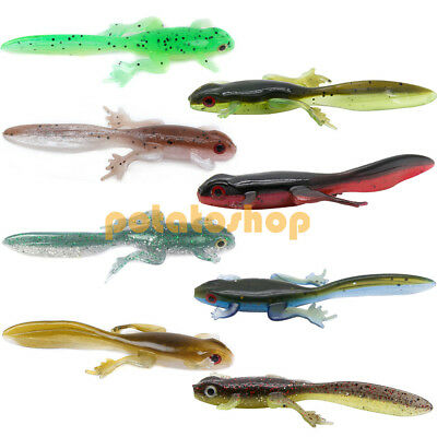 AU9.55 • Buy Topwater Soft Plastic Lures Fishing Tadpole Frog Snakehead Perch Bass