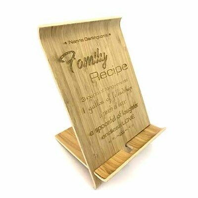 Wooden Tablet / Book Stand (small) - Personalised • 12.95£
