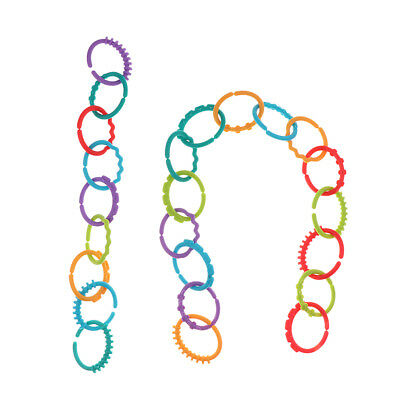 Rainbow Teether Ring Links Plastic Baby Kid Infant Stroller Gym Play Mat Toy • 4.99£