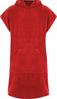 £19.99 • Buy Red 100% Cotton Changing Robe With Pocket Beach Poncho Towel Swimming Surf
