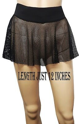 NEW HOT& SEXY WOMENS/GIRLS JUST 12  FISH NET SKATERS  SKIRT SIZE 4 To 20 • 6.99£