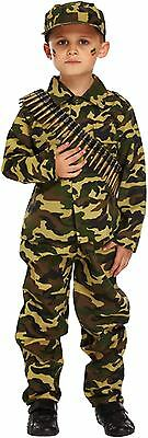 £8.99 • Buy Boys Army Soldier Child's Fancy Dress Dressing Up Outfit World Book Day Costume