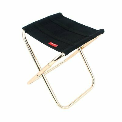 Portable Aluminum Folding Chair Stool Seat For Outdoor Fishing Camping Picnic • 10.99£