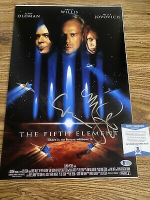 $269.99 • Buy The Fifth Element Autographed 12x18 Photo Milla Jovovich Gary Oldman BAS