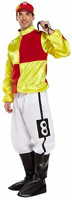Jockey Silks Fancy Dress Dressing Up Outfit Horse Racing Costume Adult Male NEW • 19.99£