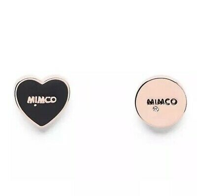 AU29.99 • Buy MIMCO Sweetheart Rose Gold Black Stud Earrings • Authentic RRP$49.95