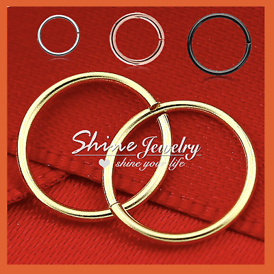 AU5.32 • Buy 6-8-10mm Sterling Silver Small Hoop Earring Sleeper Ear Nose Lip Piercing Ring