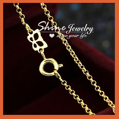 AU8.98 • Buy 9K GOLD GF LADIES KIDS SOLID BELCHER RING CHAIN NECKLACE For Pendant 18-24 INCH