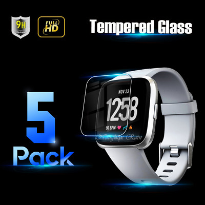 $ CDN7.55 • Buy 5x Tempered Glass Screen Protector Film Guard For Fitbit Versa /Versa Lite