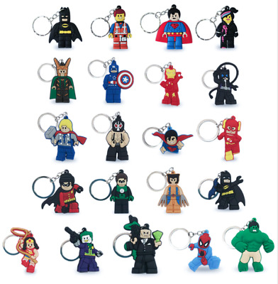 Lego Movie Characters Keyring / Key Chain - 21 Characters! Marvel DC Comic Ring • 1.99£