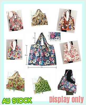 AU7.59 • Buy Foldable Shopping Bags Reusable Carry Bag Beach Eco Grocery Bags Big Capacity