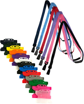 Safety Neck Strap Lanyard (J Clip) AND Staff Badge ID Card Holder  • 1.50£