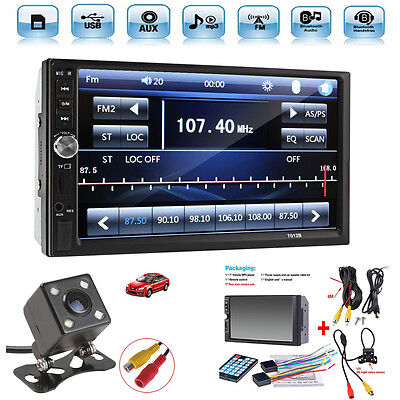 $62.86 • Buy 2 Din 7  Touch Screen FM Radio Audio Stereo Car Video Player+HD Camera