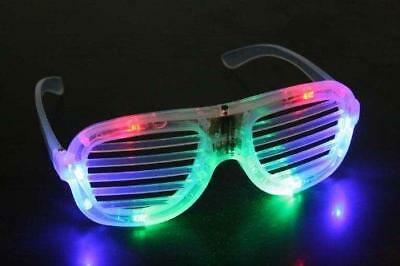Led Shutter Shades, Flashing Glasses, Rave, Uv Party, Lmfao, Clubbing Light Up • 4.50£