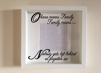 IKEA RIBBA Vinyl Decal Sticker Wall Art Quote Ohana Picture Frame • 2.99£