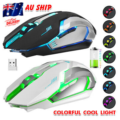 AU19.95 • Buy 2.4GHz 7 LED Backlit Wireless Optical USB Gaming Mouse For PC Laptop Computer