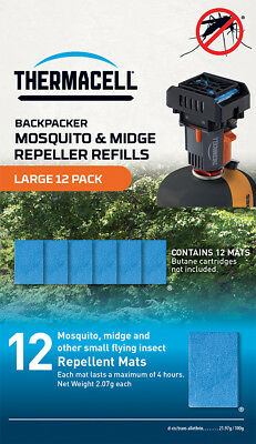Thermacell Backpacker Mosquito And Midge Repeller REFILLS Large 12 Pack • 19.99£