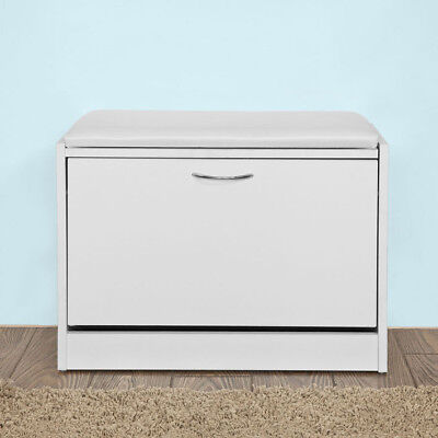 £42.95 • Buy SoBuy® Shoe Storage Bench Shoe Cabinet With Removable Cushioned Seat,FSR16-W,UK
